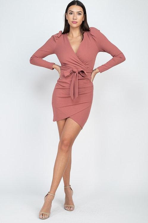 04610 Puff sleeve dress