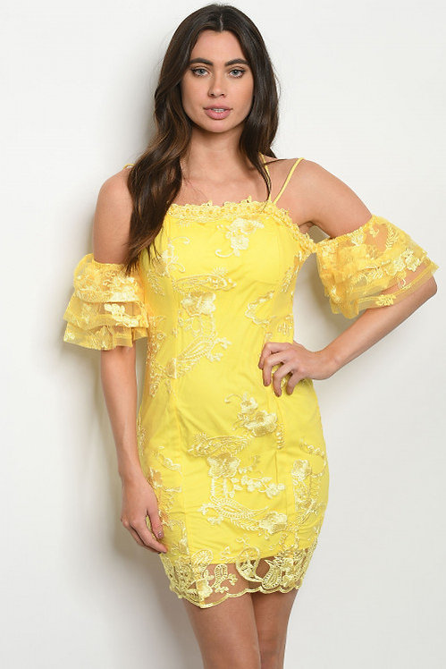 13695 YELLOW DRESS