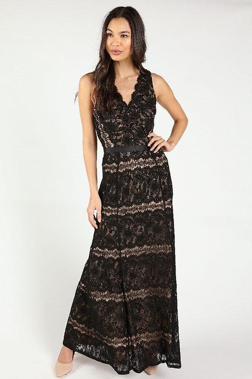 85460 BLACK NUDE DRESS