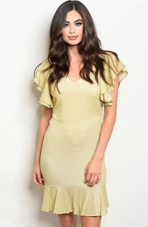 10388 YELLOW DRESS