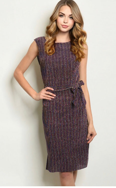 1830 MULTI COLOR SHIMMER DRESS