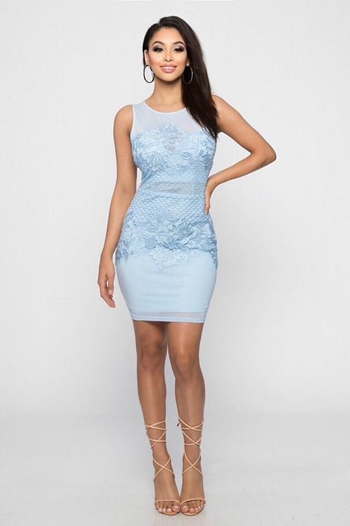 62913 BLUE DRESS