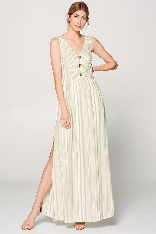1719 Olive Striped dress