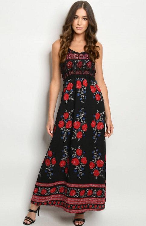 273 BLACK FLORAL DRESS