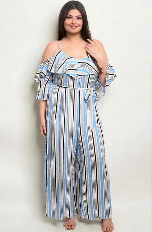 19984 BLUE STRIPES JUMPSUIT