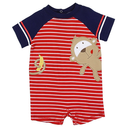 MONKEY BUSTER BROWN ROMPER RED