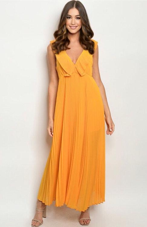 51979 MUSTARD DRESS
