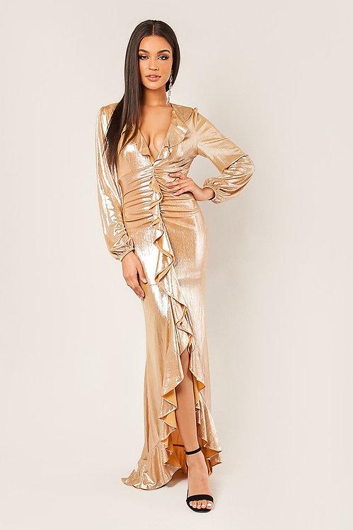 7324 GOLD DRESS
