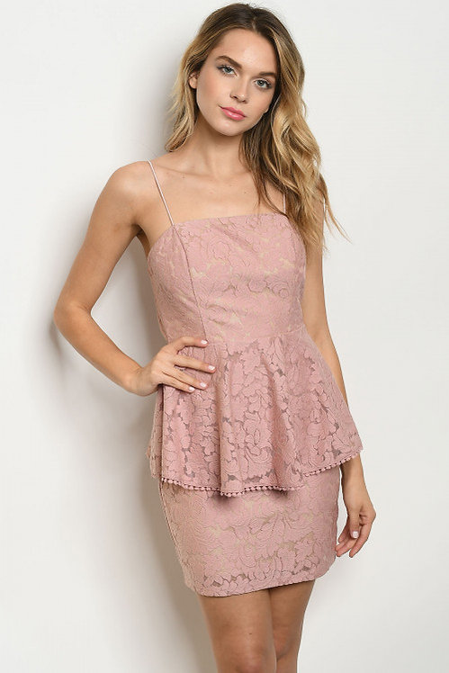 1154 ROSE NUDE DRESS