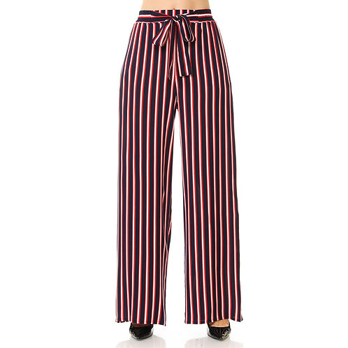 71121-4 Stripe Loose Fit Paper Bag Pants