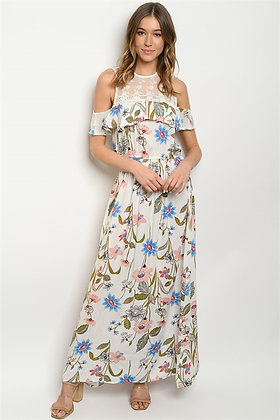 005 OFF WHITE FLORAL DRESS