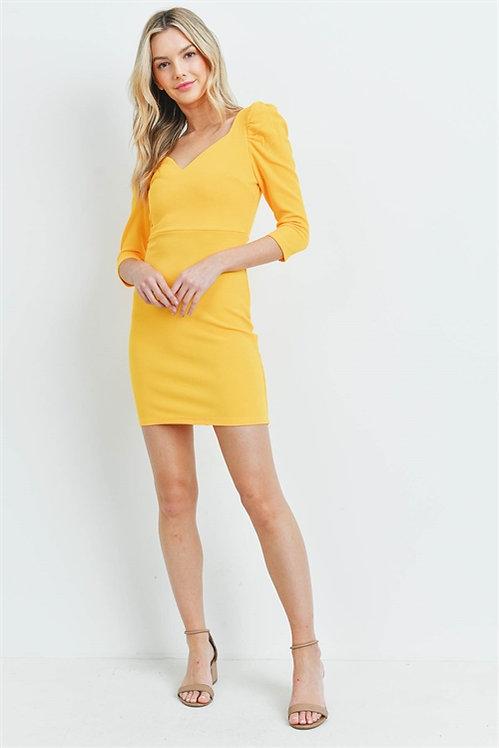 98003 YELLOW DRESS