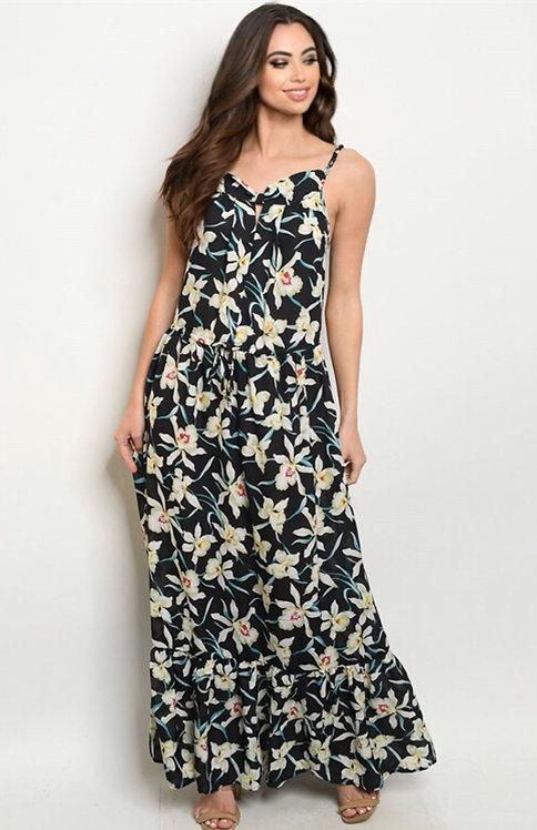 13306 NAVY FLORAL DRESS