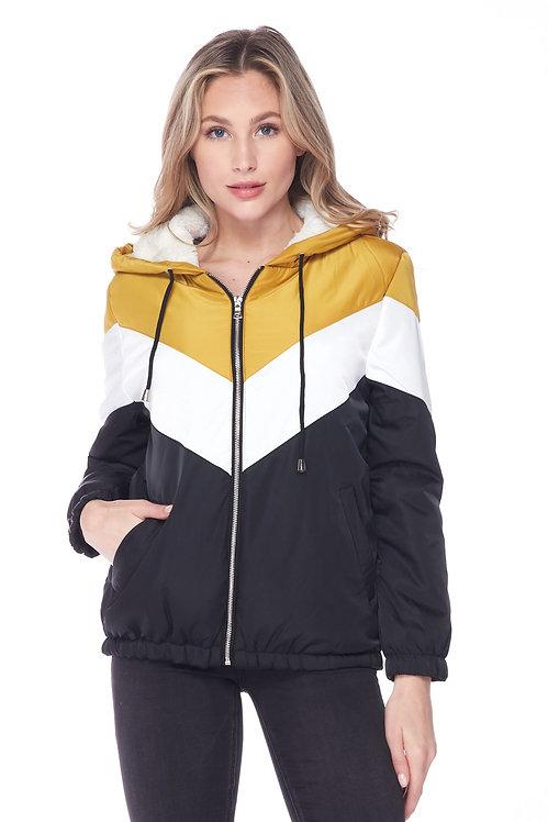 71644 Faux Fur Lined Hoodie Jacket