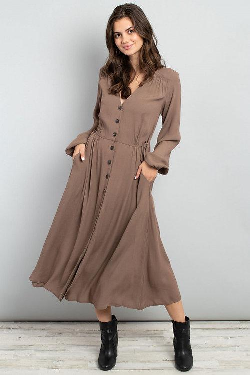 60204 DARK OLIVE DRESS