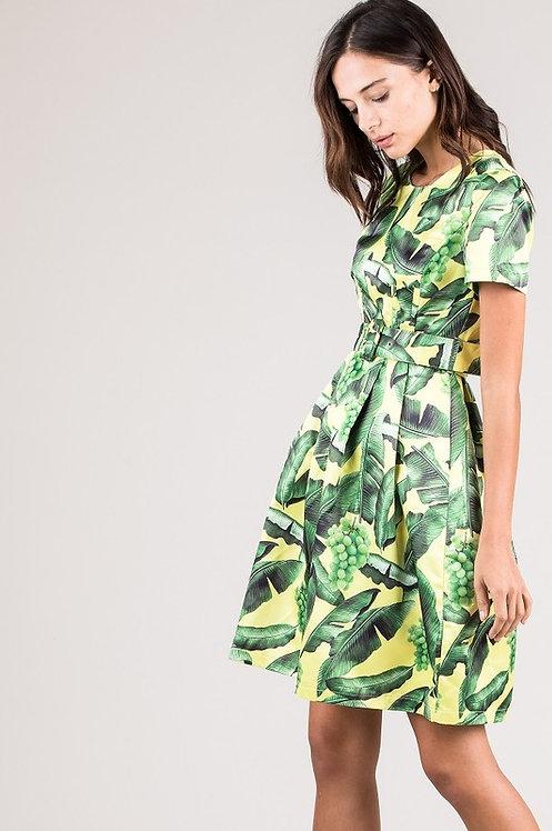0366 BLACK GREEN DRESS