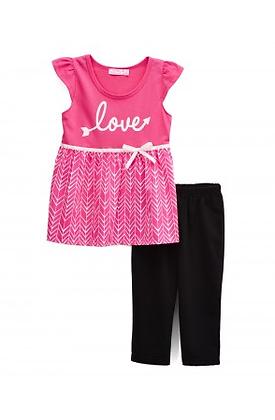 Girls' Legging Sets pink