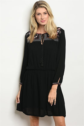 32014 BLACK WINE DRESS