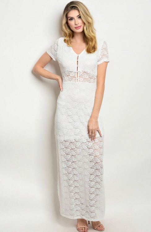 25377 OFF WHITE LACE DRESS