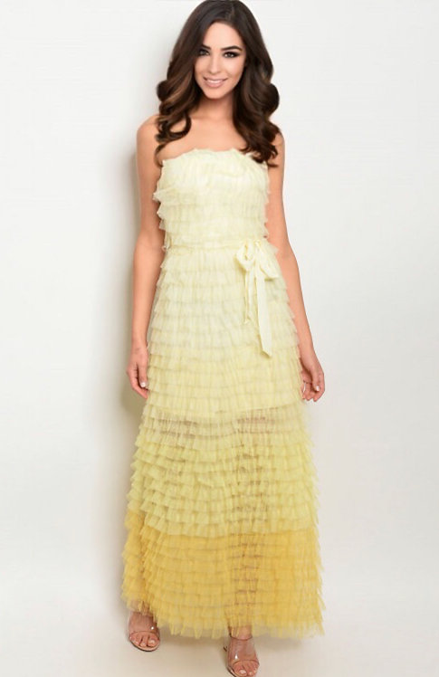 74854 YELLOW DRESS