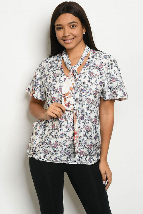8917 IVORY WITH PRINT TOP
