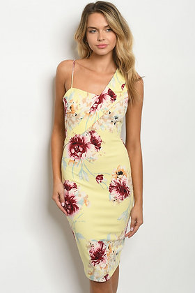 7327 YELLOW FLORAL DRESS