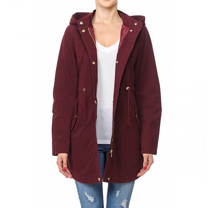 65934-LONGLINE HOODED ANORAK JACKET