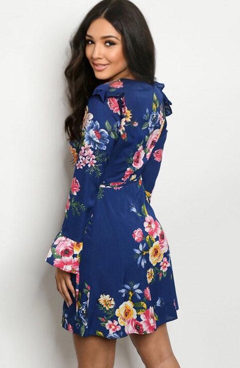 354 NAVY FLORAL DRESS