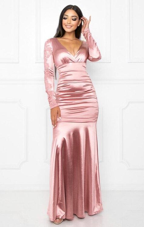 61094 DUSTY PINK DRESS