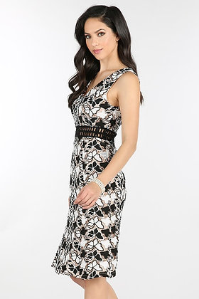 50078 BLACK WHITE DRESS