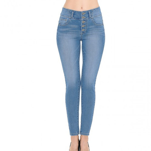 90163 SKINNY WITH EXPOSED BUTTONS