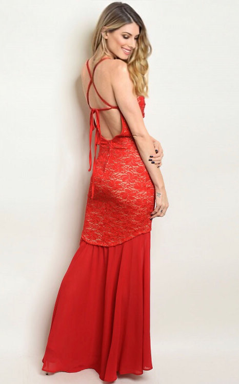1274 RED TAUPE DRESS