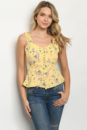 11639 YELLOW FLORAL TOP