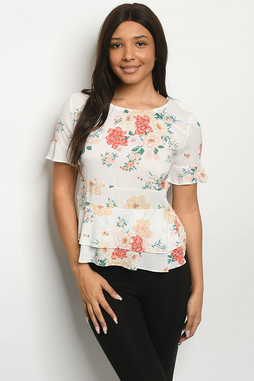 5190 WHITE FLORAL TOP