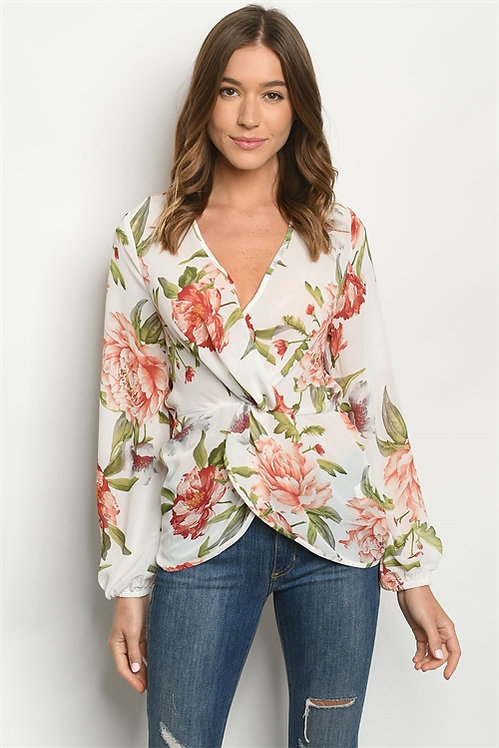 59721 WHITE FLORAL