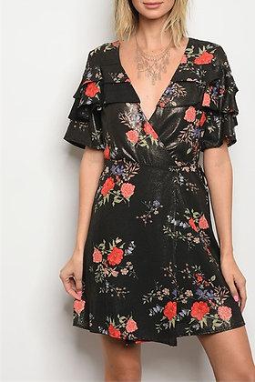 0627 BLACK FLORAL DRESS