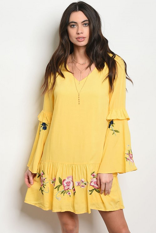 58439 YELLOW DRESS