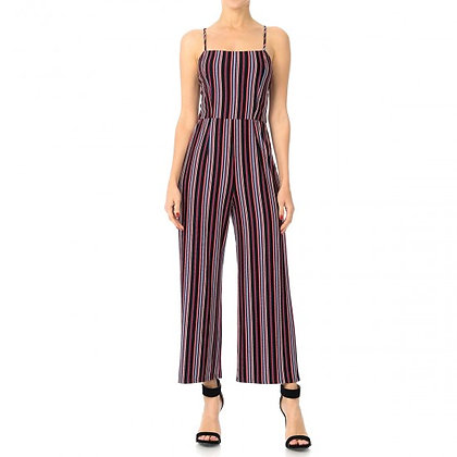 65941-2 STRIPED CAMI JUMPSUIT