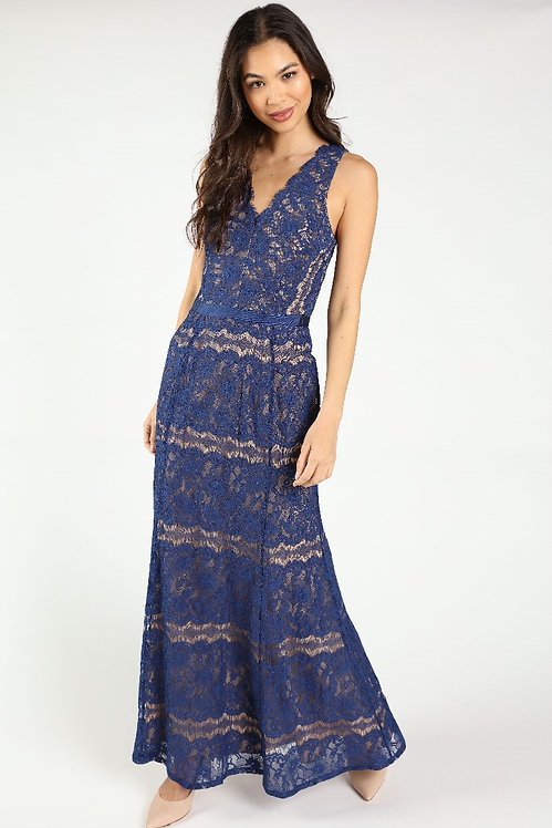 85460 NAVY NUDE DRESS