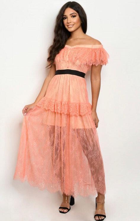 73095 PEACH DRESS