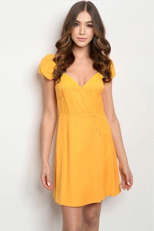 6485 YELLOW DRESS