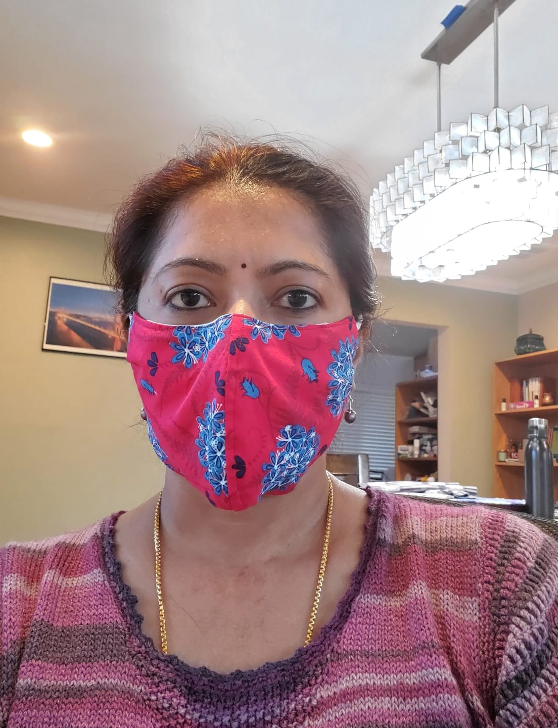 Mask on, Mask off: Parvathi has made over 150 masks for the Almaden Community