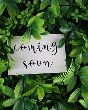 Coming soon wording on a white card over green leaves background.jpg