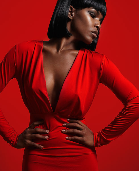African American Woman in Red_AdobeStock