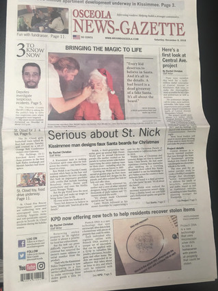 Wolek makes the Front Page!