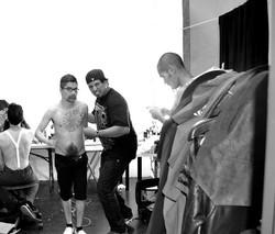 Octavio backstage at Wolek's Famous