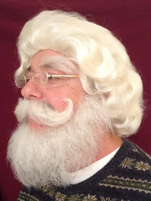SANTA WIG SET - wig, beard, mustache, eyebrow