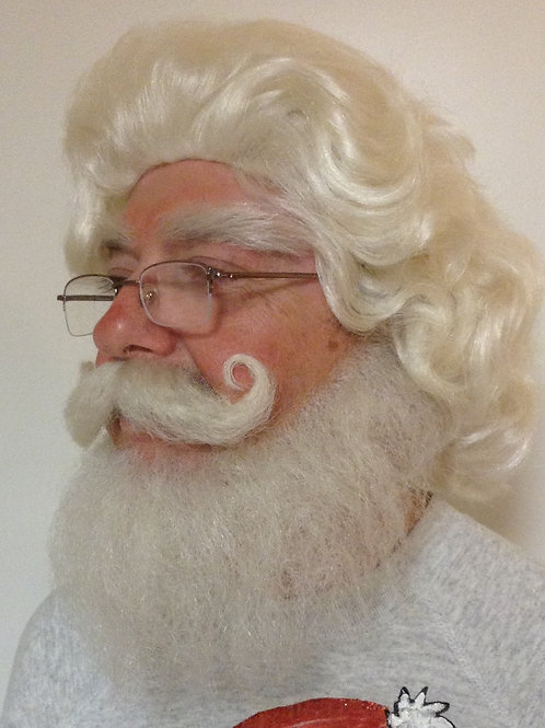 SANTA WIG SET - wig, beard, mustache