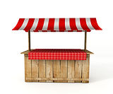 Market stall rustic - party country - Fe