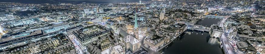interaktive panorama ufaufnhme zürich bellevue nacht drohne